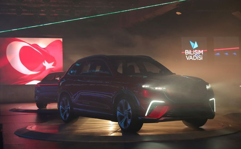 unveiling of togg suv in turkey