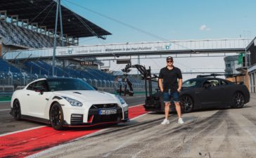 The only car capable of filming the GT-R Nismo at high speeds