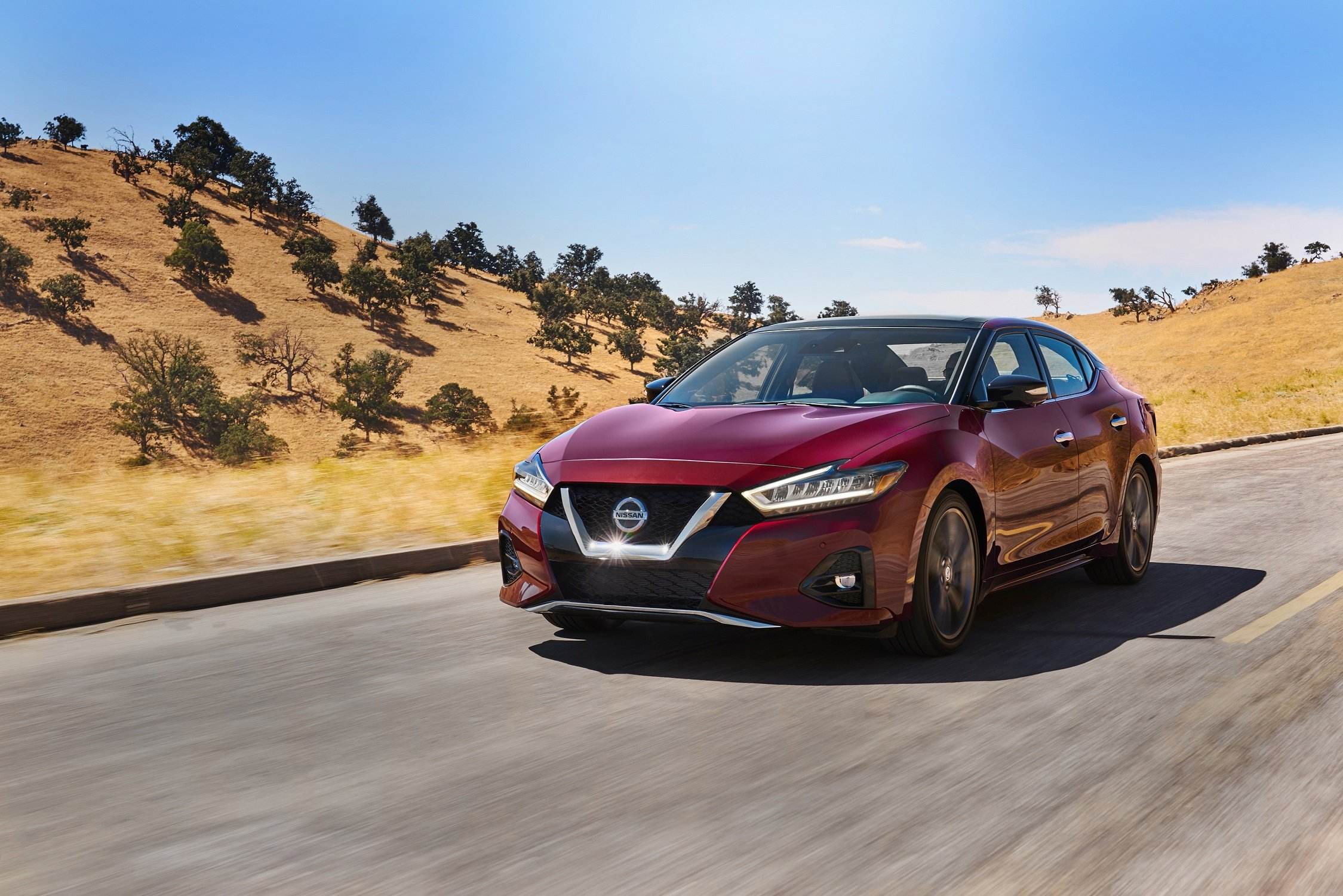"The 2020 Nissan Maxima wins ""Middle East Car of the Year"" Award 2020 within the large Sedan segment category as a premium sports sedan"