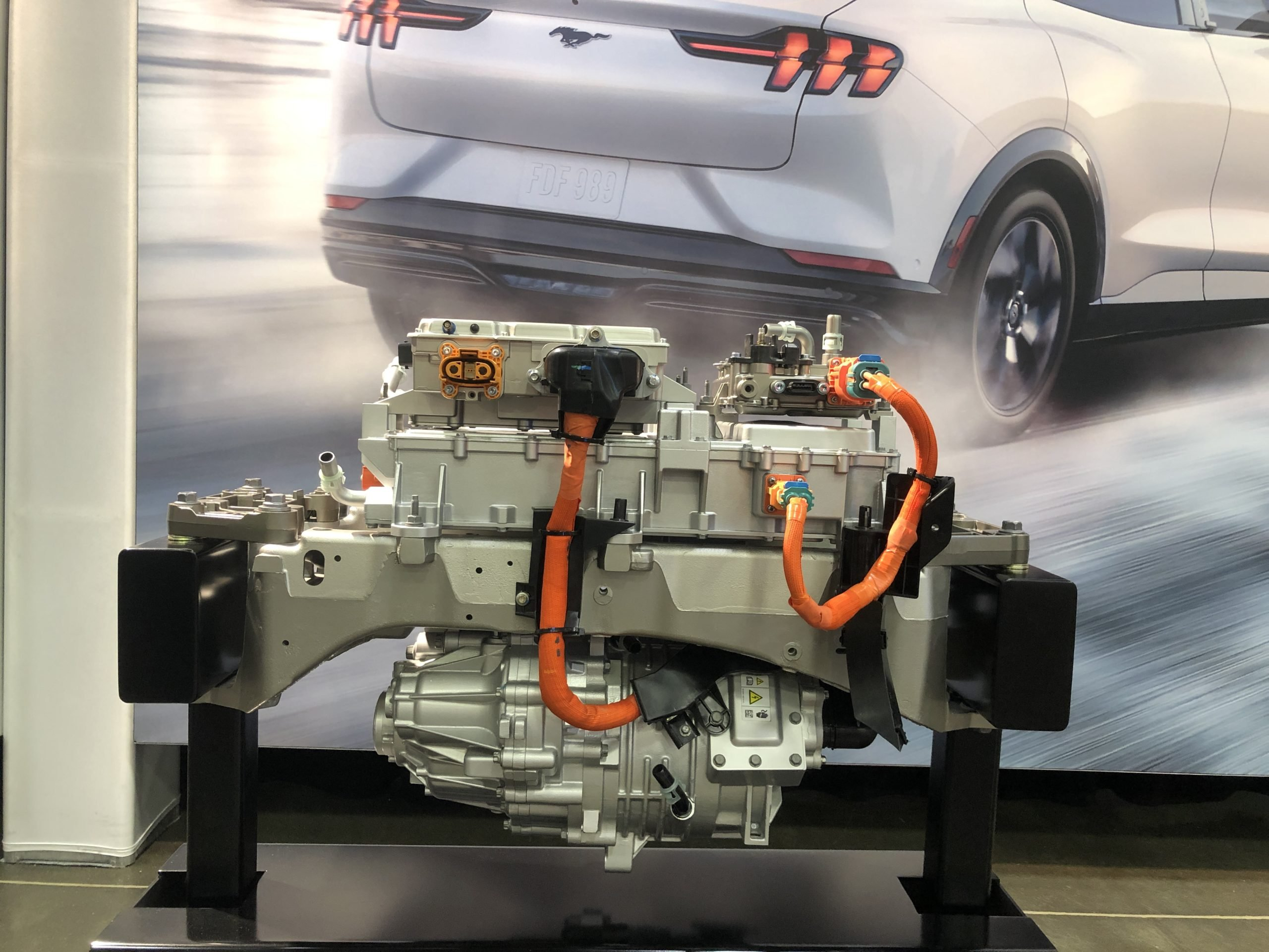 Ford recently conducts a battery test on the Mustang Mach and discovers that the battery charges 30 percent faster than expected.
