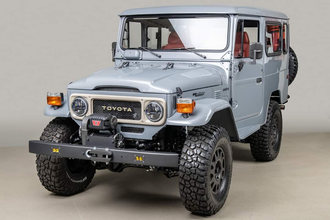 FJ Company have custom rebuilt the FJ models by molting and recreating all the parts from scratch, and fitting it with a superchargered engine.