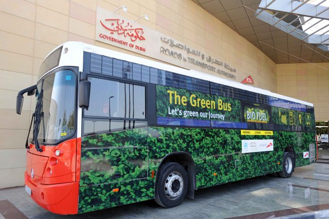 Dubai plans to create an eco-friendly public transportation system by converting 50 percent of the taxi's to hybrid by 2021 and 90 percent by 2026