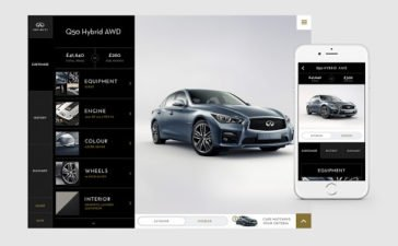 Infiniti Middle East launches a new digital portal to which customers can view and design their the car as per their configuration and request a quote