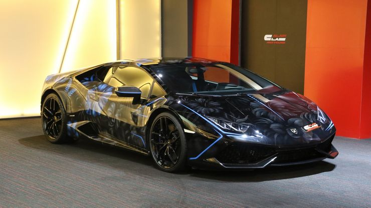 Supercar blondie is selling one her favorite cars which has a personalized paint job and is a Lamborghini Huracan called Lucy