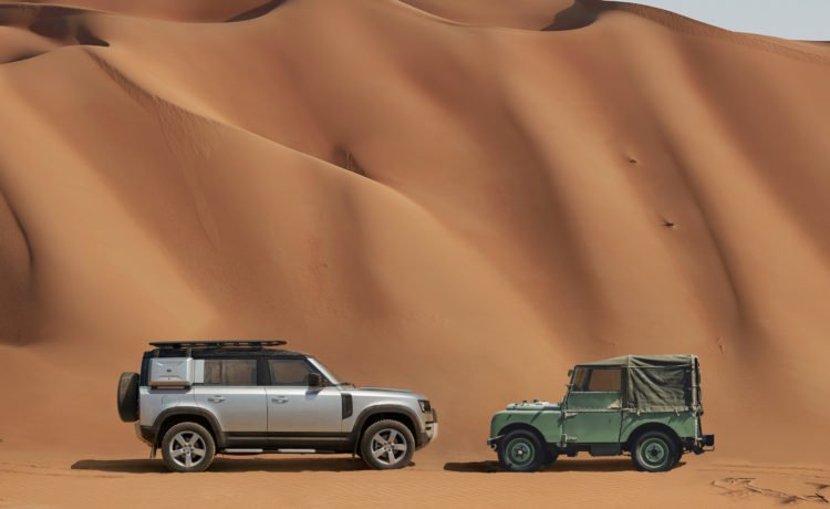 Land Rover Defender Displayed at Selected Al Tayer Motors and Premier Motors Land Rover showrooms for customers to experience the car.