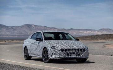 Hyundai Motor Company previews its all-new 2021 Elantra N Line sedan with a N line performance enhanced and sportier design as compared to previous models