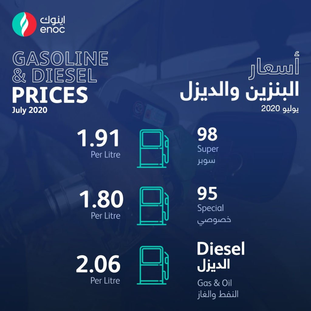UAE Fuel Price July 2020