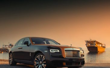 Rolls-Royce creates Ghost, a model that is inspired from the Arabian sailing ships. The design is created by Sambook Ghost and honored to be a part.