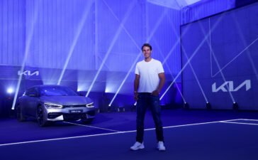 Rafael Nadal with the new EV6